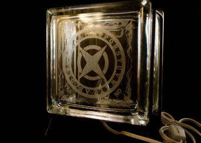 Ouija Glass block - Unlit
