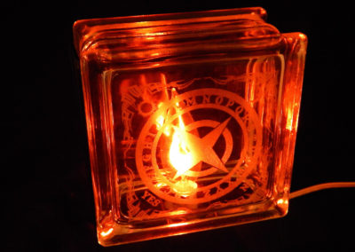 Like A Storm Ouija Glass Block